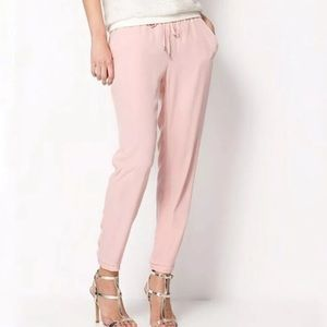 pink dressy joggers